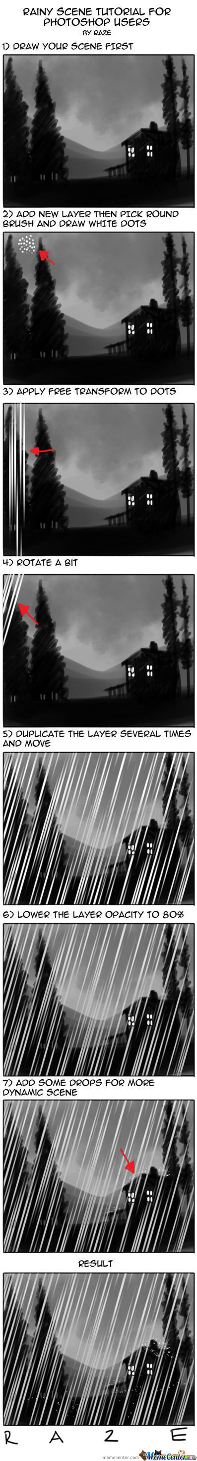 Rainy Scene Tutorial