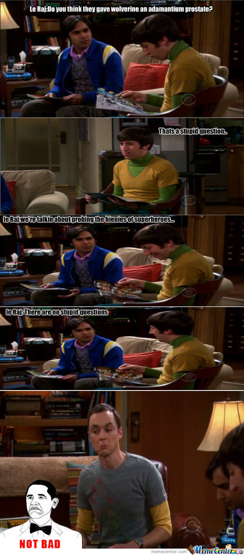 Raj Epic Win,sheldon Not Bad