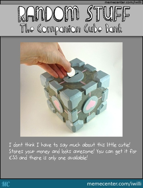 Random Stuff: The Companion Cube Bank