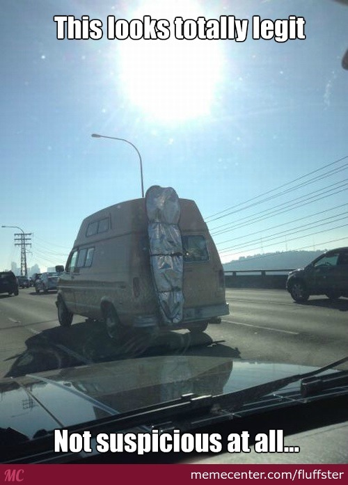 Rape Van + Body Bag = Happy Motoring