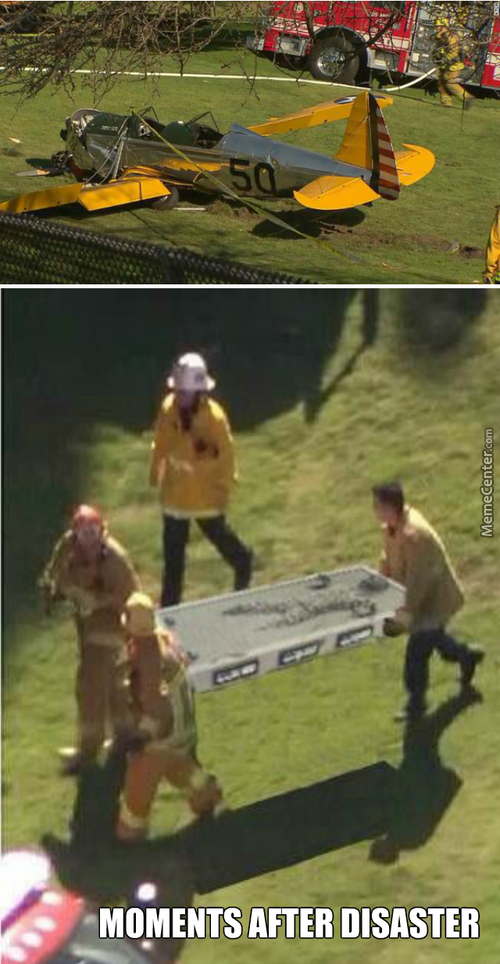 Rare Footage - Harrison Ford Accident