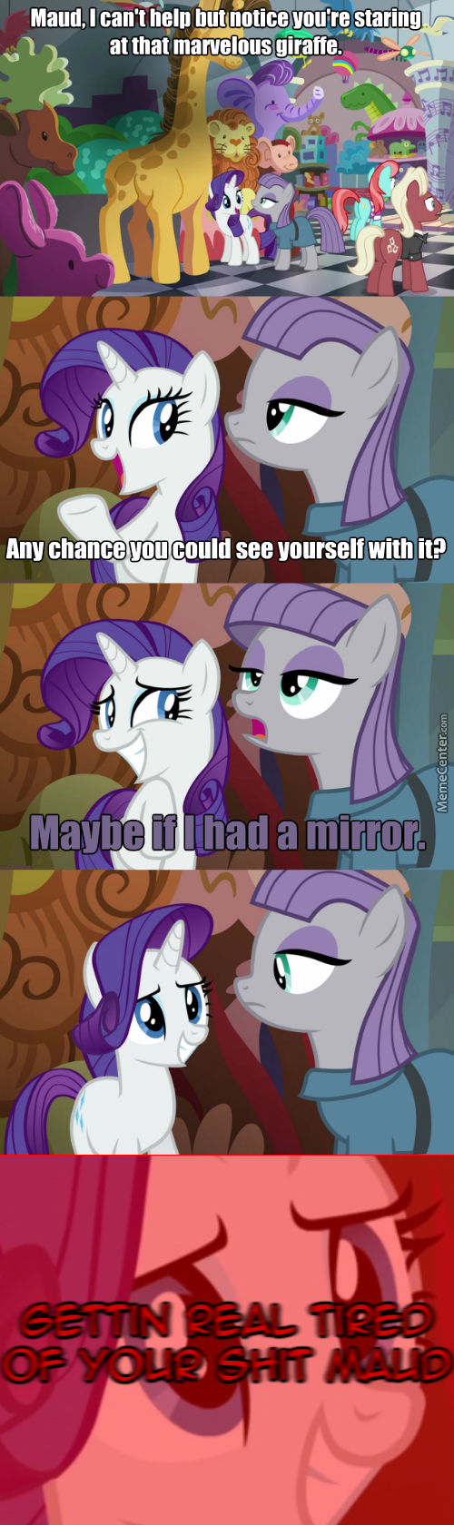 Rarity Has Had Quite Enough Of Your Shit