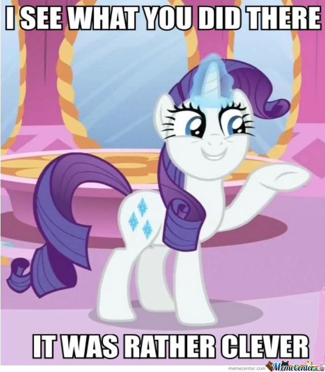 Rarity Says It With Style