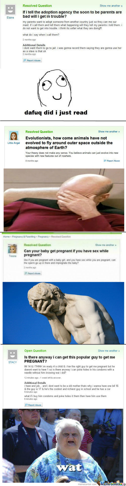 Reactions To Yahoo Answers Meme Center : Memerandomness Posts Page 9