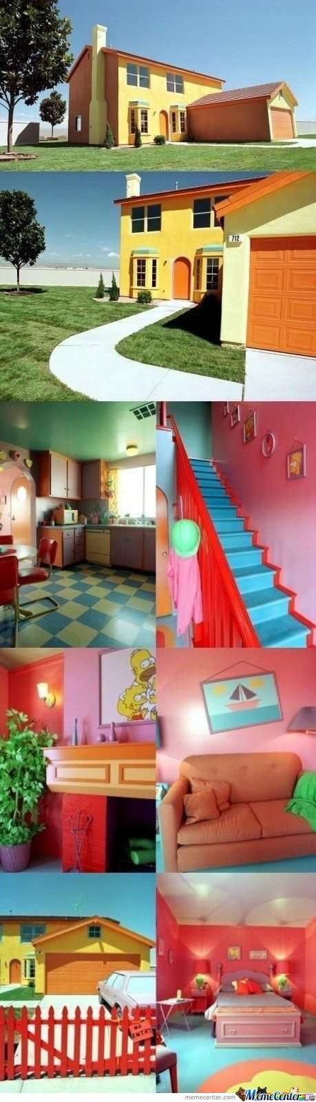 Real Life 'the Simpsons' House!