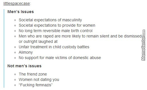 Real Men Issues