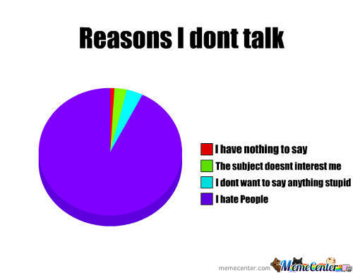 Reasons I Dont Talk