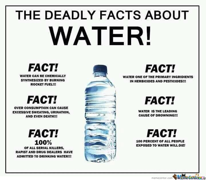 Funny Memes About Drinking Water : Reasons why i don`t drink water by koner meme center