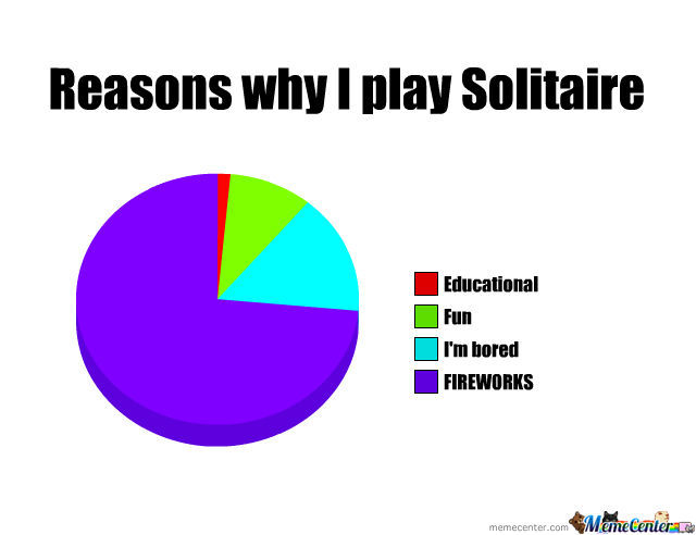 Reasons Why I Play Solitaire