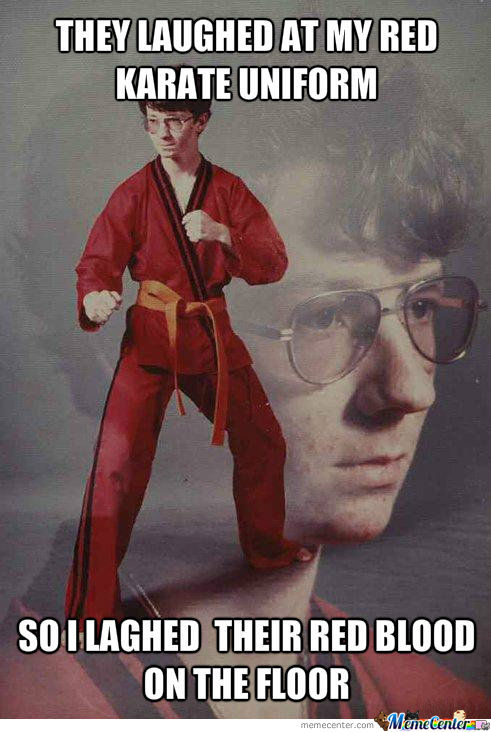 Red Karate Uniform