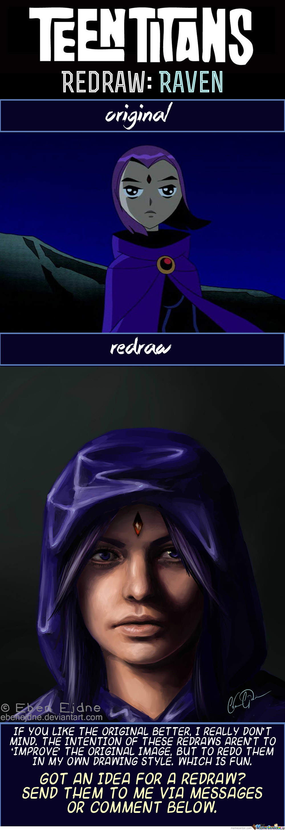 Redraw: Raven (From Teen Titans)