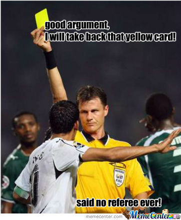 Image result for referee meme