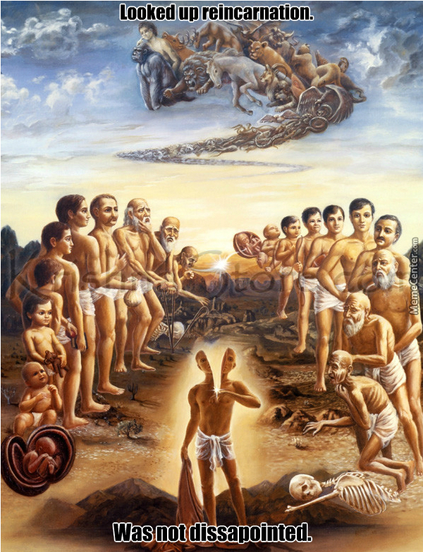 reincarnation essay Reincarnation is the philosophical or religious concept that an aspect of a living being starts a new life in a different physical body or form after each biological.