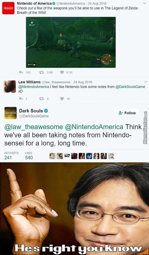 Respect For Dark Souls And Nintendo Right Here