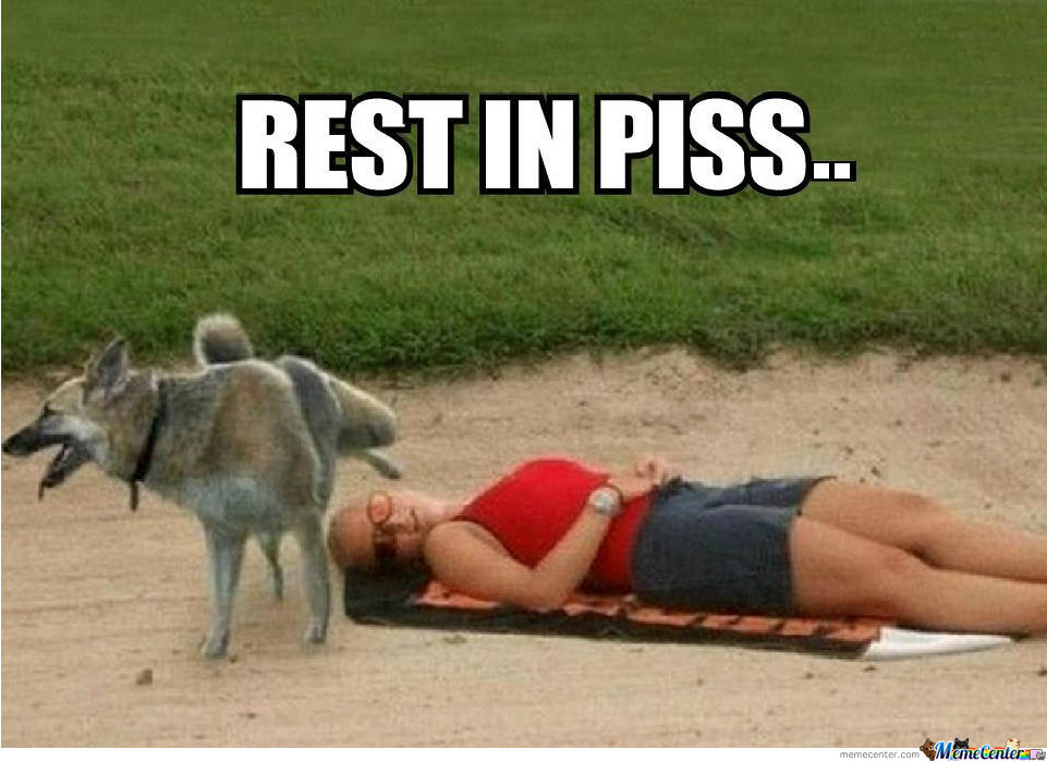 Rest in piss means