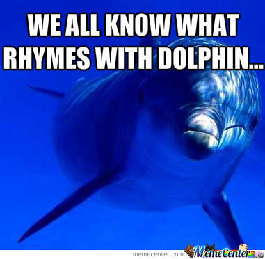 Rhymes With Dolphin by miserydolphin - Meme Center