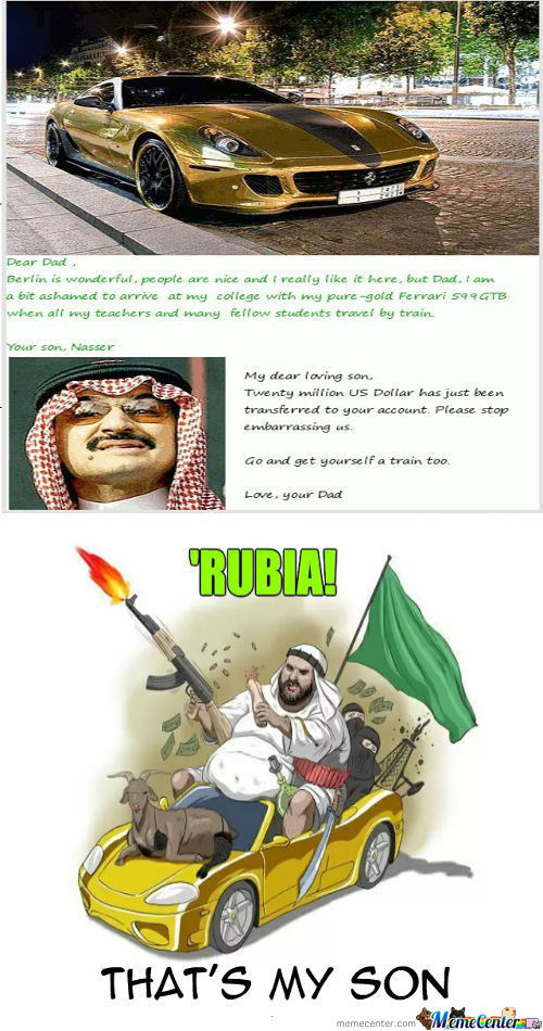 Rich Arab Problems - Credit To Nedesem For 'rubia