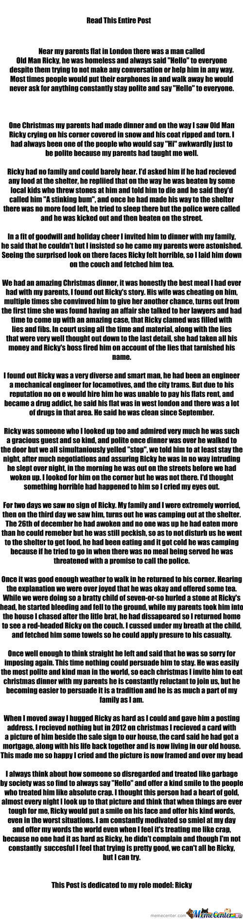 Ricky You Are The Greatest