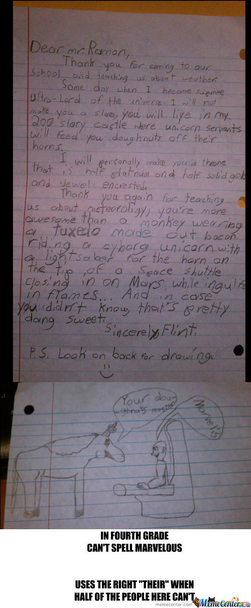 [RMX] 4Th Grader's Letter To Weather Man