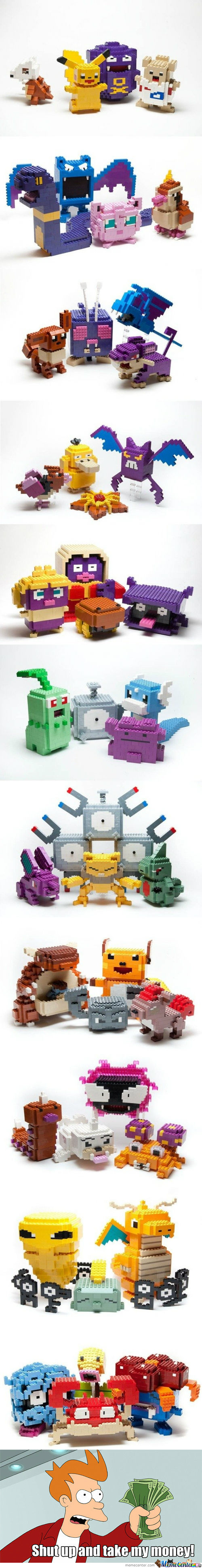[RMX] Awesome lego sculptures - Pokemon