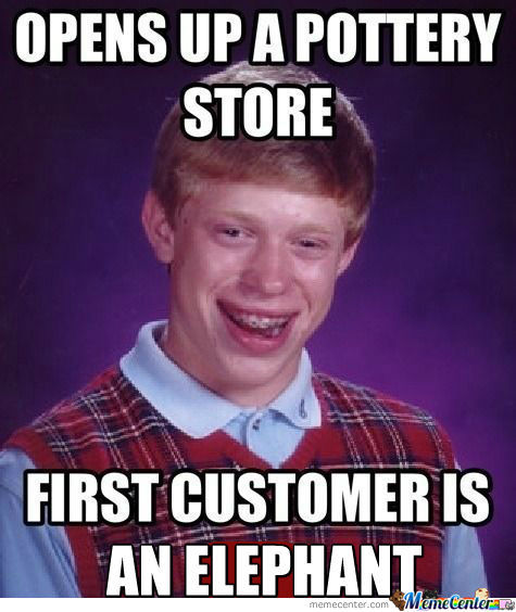 [RMX]  Bad Luck Brian Opens Up A Pottery Store