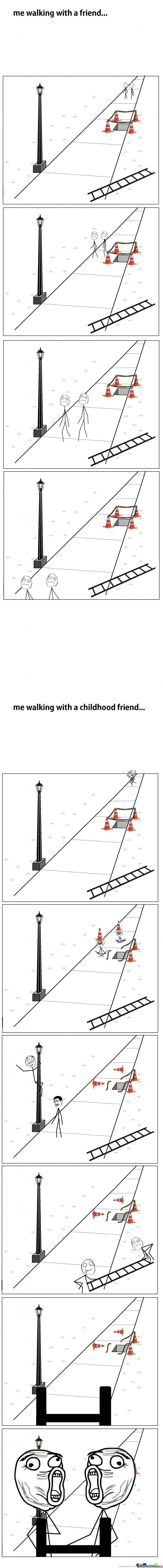 [RMX] Difference Between Friends And Friends From Childhood !!