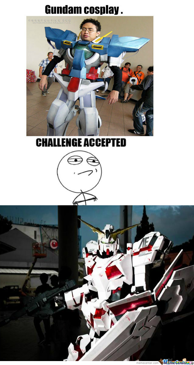 [RMX] Gundam Cosplay Close Enough .