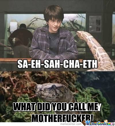 [RMX] Harry Potter Trying To Speak To Snake..
