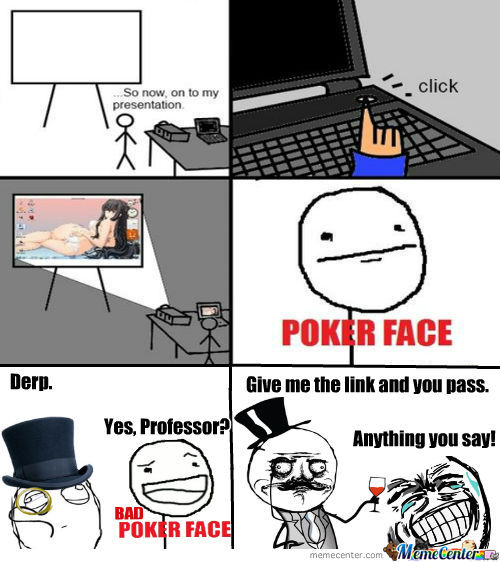 Rmx Just Poker Face By Free Meme Center