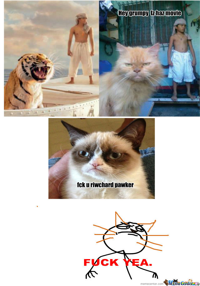 [RMX] Life Of Pi:lol Looks Like Theres Some1 Famous Than Grumpy Cat.