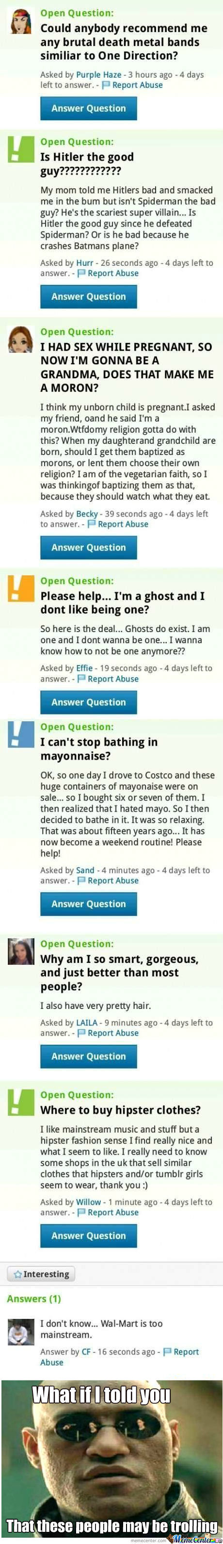 [RMX] Meanwhile, On Yahoo Answers
