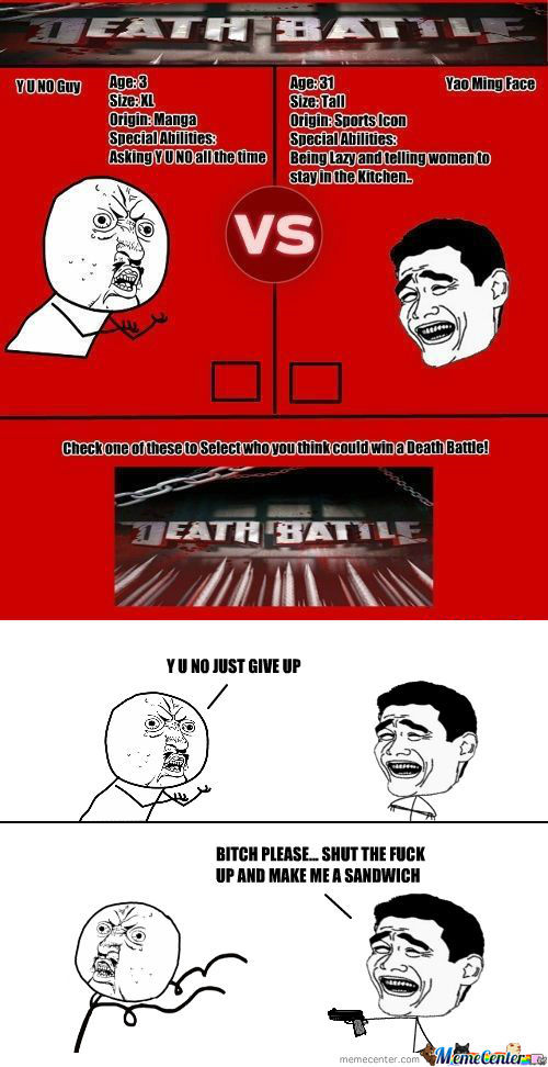 [RMX] Memecenter Death Battle: Round 1