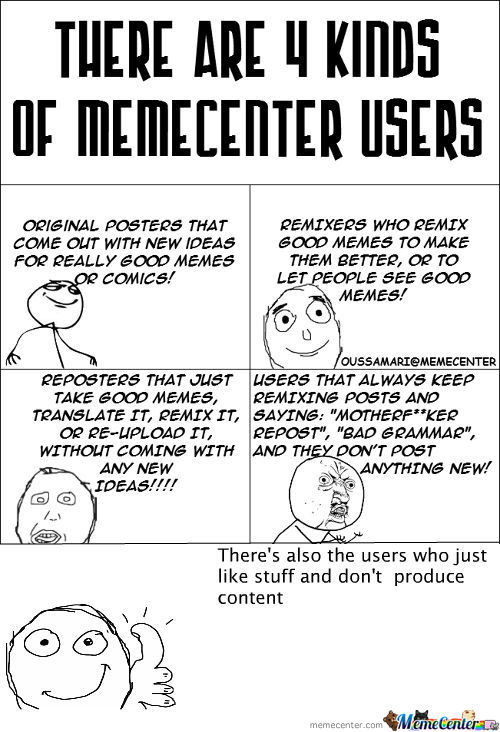 [RMX] Memecenter Users!