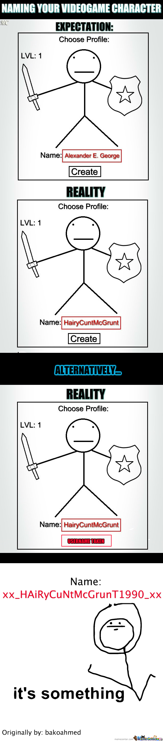 [RMX] Naming Your Videogame Character