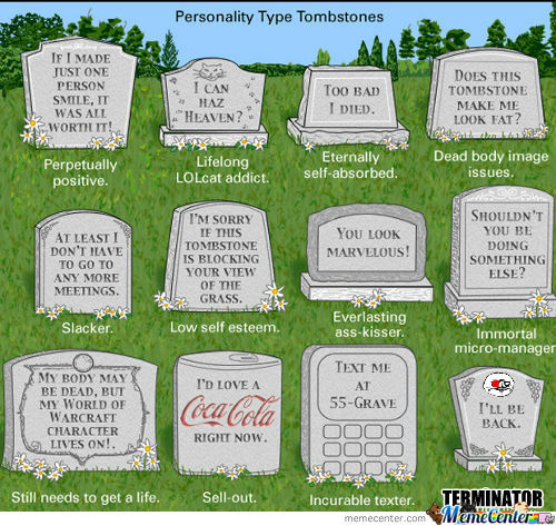Rmx Personality Type Tombstones By Darkdash Meme Center