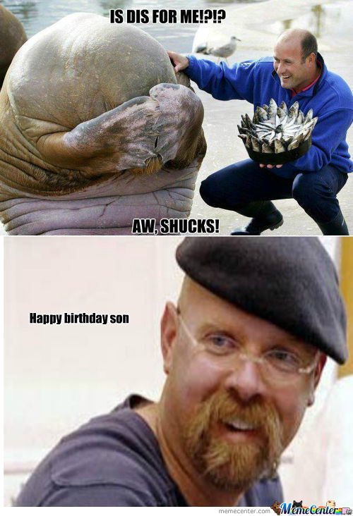 Rmx Photo Of When A Walrus Received A Fish Cake For His Birthday