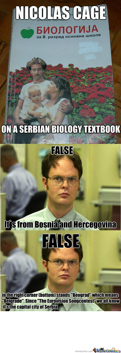 [RMX] [RMX] Nicolas Cage On Serbian Biology Textbook