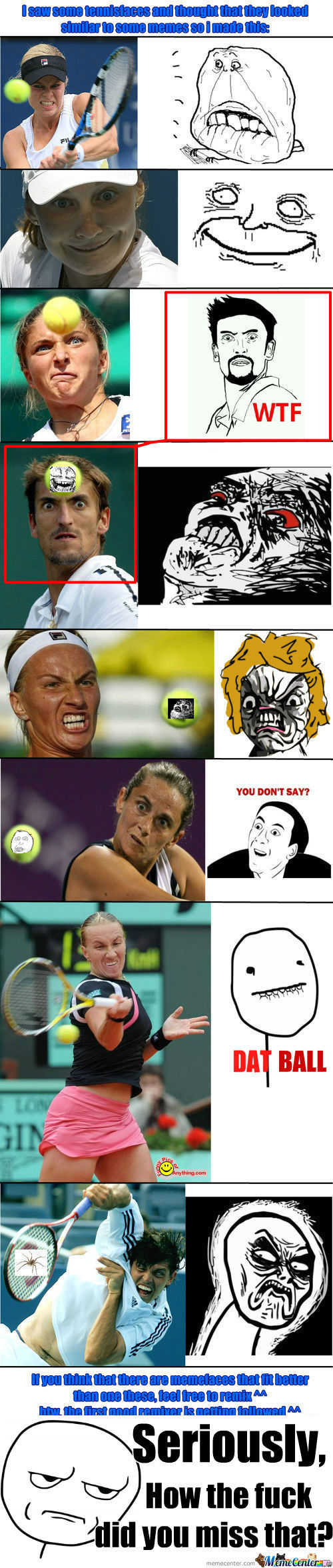 [RMX] Sometimes I Think We Should Just Stop And Appreciate All The Faces Tennis Has To Offer Us.