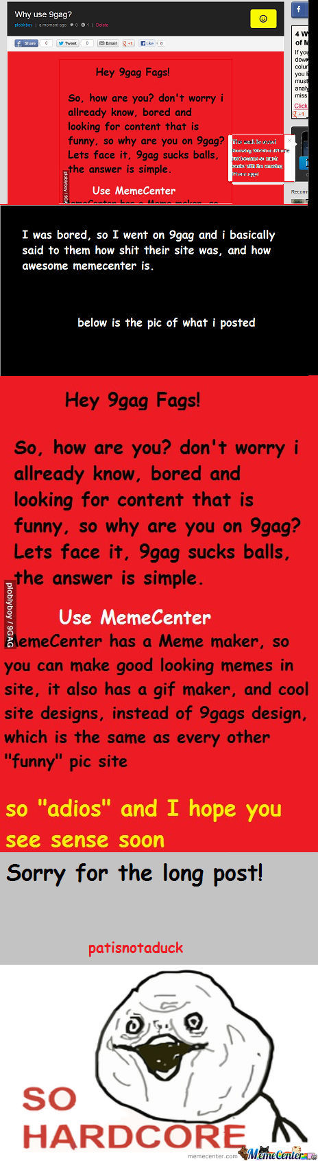 [RMX] Telling 9Gag That They Are Shit!