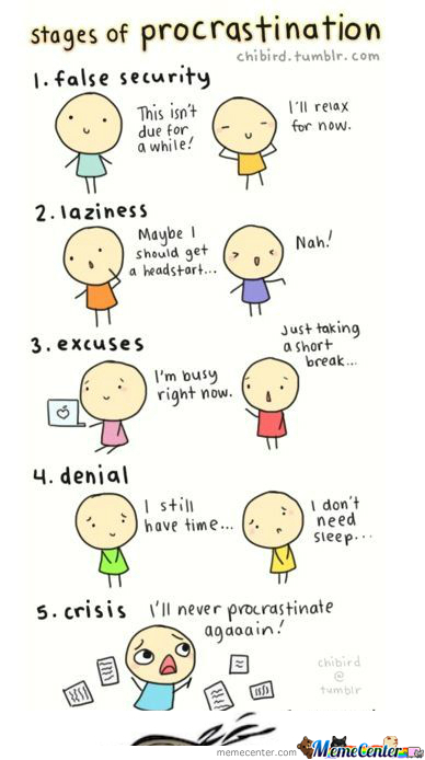 [RMX] The 5 Stages Of Procrastination