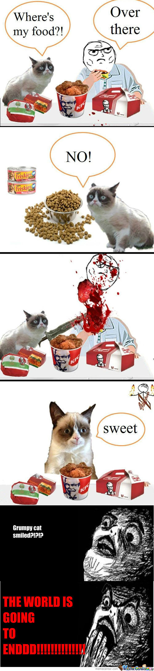 [RMX] When It Comes To Food, Don't Mess With Grumpy Cat..
