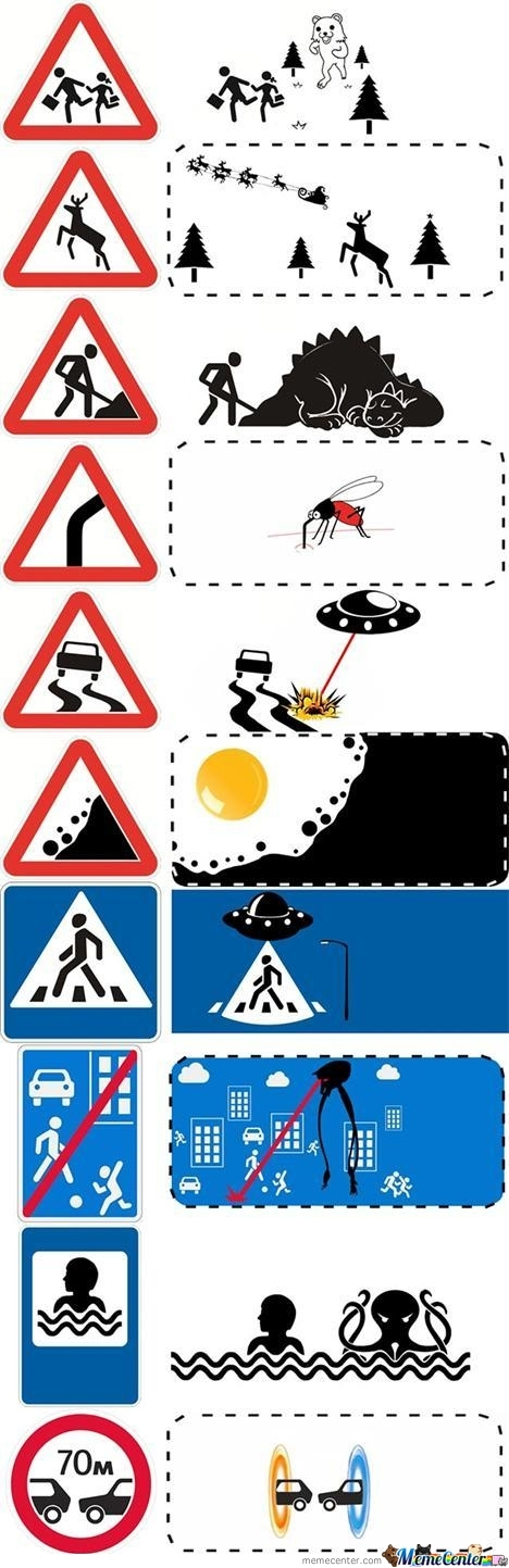 Road Signs...