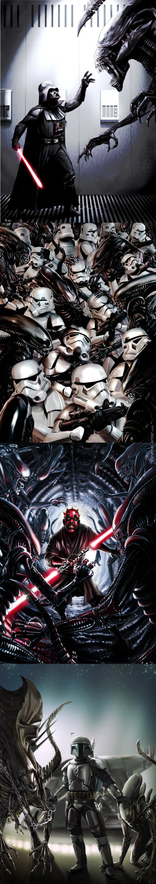 Robert Shane's Star Wars Vs. Aliens.