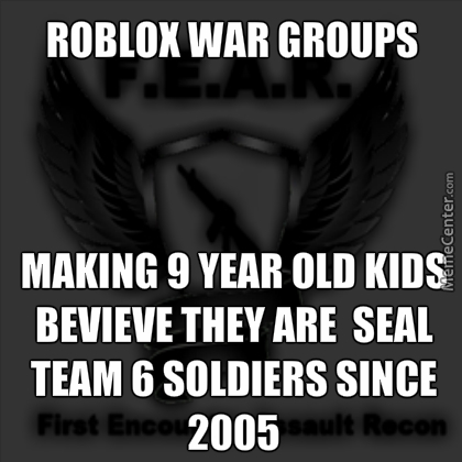 Roblox War Groups In A Nutshell