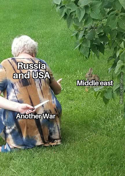 Russia And Usa And Middle East