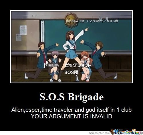 S.o.s Brigade,your Argument Is Invalid!