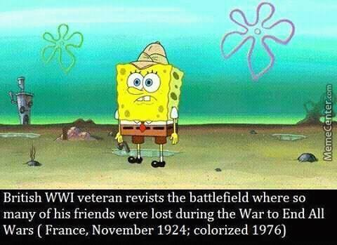 Sad Moment Of Spongebob Revisiting The Battlefield Of Some(Colorised)