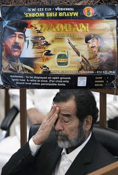 Saddam Doesn't Approve