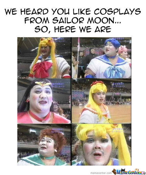 Sailor Moon Cosplay Fail