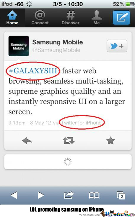 Samsung Is So Great!- Iphone User